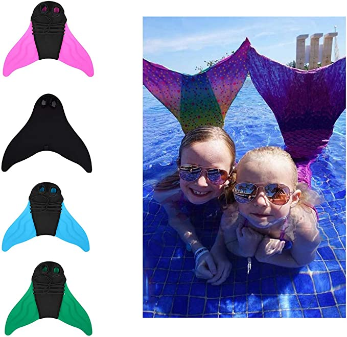 huahua Mermaid Swim Fins for Kids and Adults Monofin One-Piece Flipper Diving Fins for Training