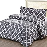 Eastern King Bed Comforter Utopia Bedding Printed Comforter Set (King/Cal King, Grey) with 2 Pillow Shams - Luxurious Brushed Microfiber - Goose Down Alternative Comforter - Soft and Comfortable - Machine Washable