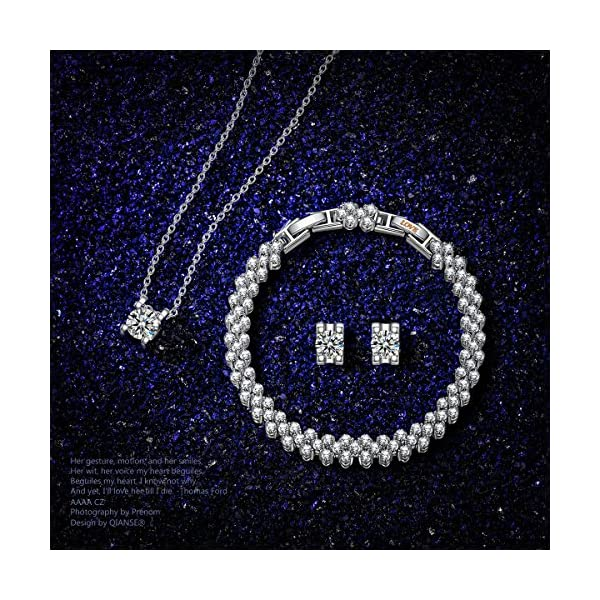 "QIANSE Christmas Jewelry ""Snow Queen"" Necklace Earrings Bracelet Jewelry Set - Make Her Your Queen!"
