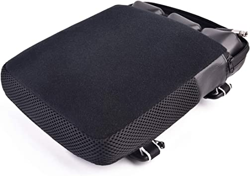 Classic Saddle Motorcycle Gel Seat Cushion Cooling Mesh Breathable Fabric Scooter Seat Accessories Anti-Slip Cushion Covers Long Ride Cool Air Ventilation and Comfort