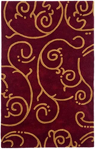 Structure Archer Rug, 4-Feet by 6-Feet, Burgundy