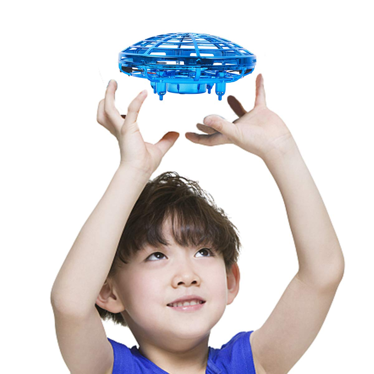Oucles Mini Drones for Kids and Adults Ball with 360° Rotating and Shinning LED Lights, Flying Toy for Boys Girls and Kids Gifts