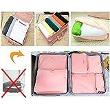 G4U 5-Piece Travel Bag Organizer Set - Pink