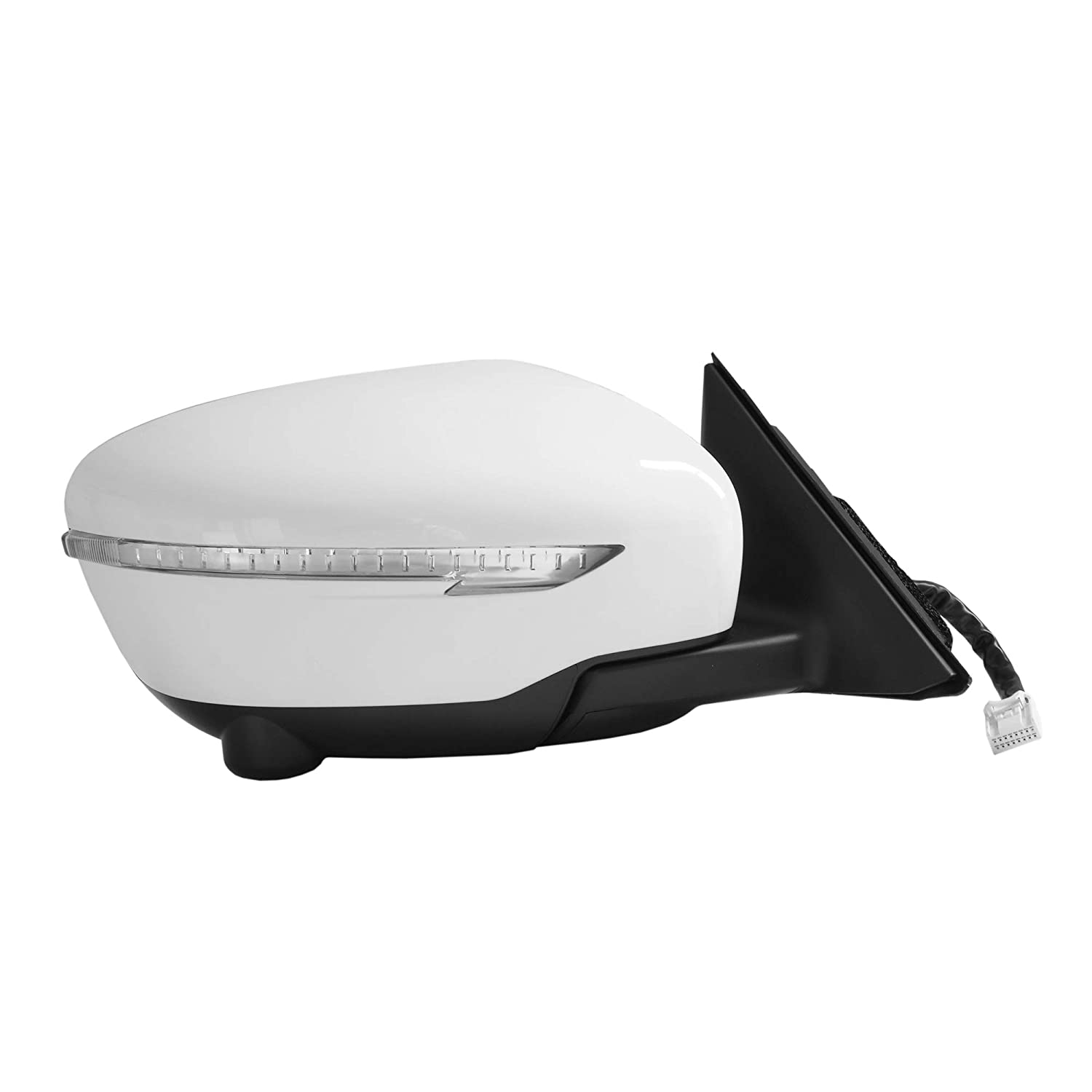 Spieg NI1321271 Side Mirror Replacement for Nissan Rogue Power Heated Glass w//Turn Signal w//360 Degree View Camera Power Folding White Passenger Right