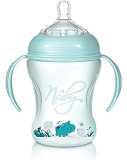 Nuby NTVP34 Natural Touch Weithalsflasche aus polypropylen 330 ml
