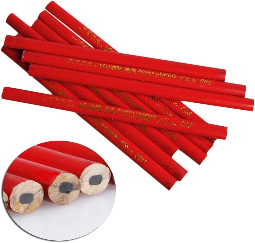 Plomb Noir pour Les Constructeurs De Bricolage Menuisiers Menuiserie UNFAIR 10pcs 175mm Crayons De Charpentier