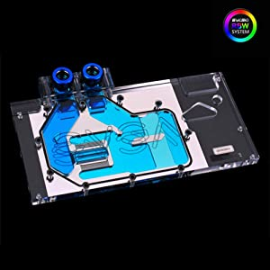 Bykski RGB PC Water Cooling Full-Cover GPU VGA Block for Graphic Video Card EVGA GTX1080 GTX1070 GTX1070 Ti (RBW LED Block)