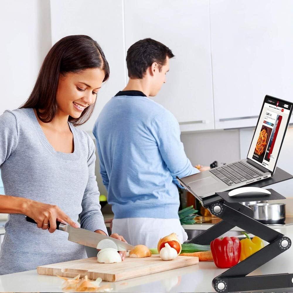 Black Blingstars Adjustable Ergonomic Laptop Table Desk Laptop Holder//Notebook Stand Board and Cooling Cooler Fan