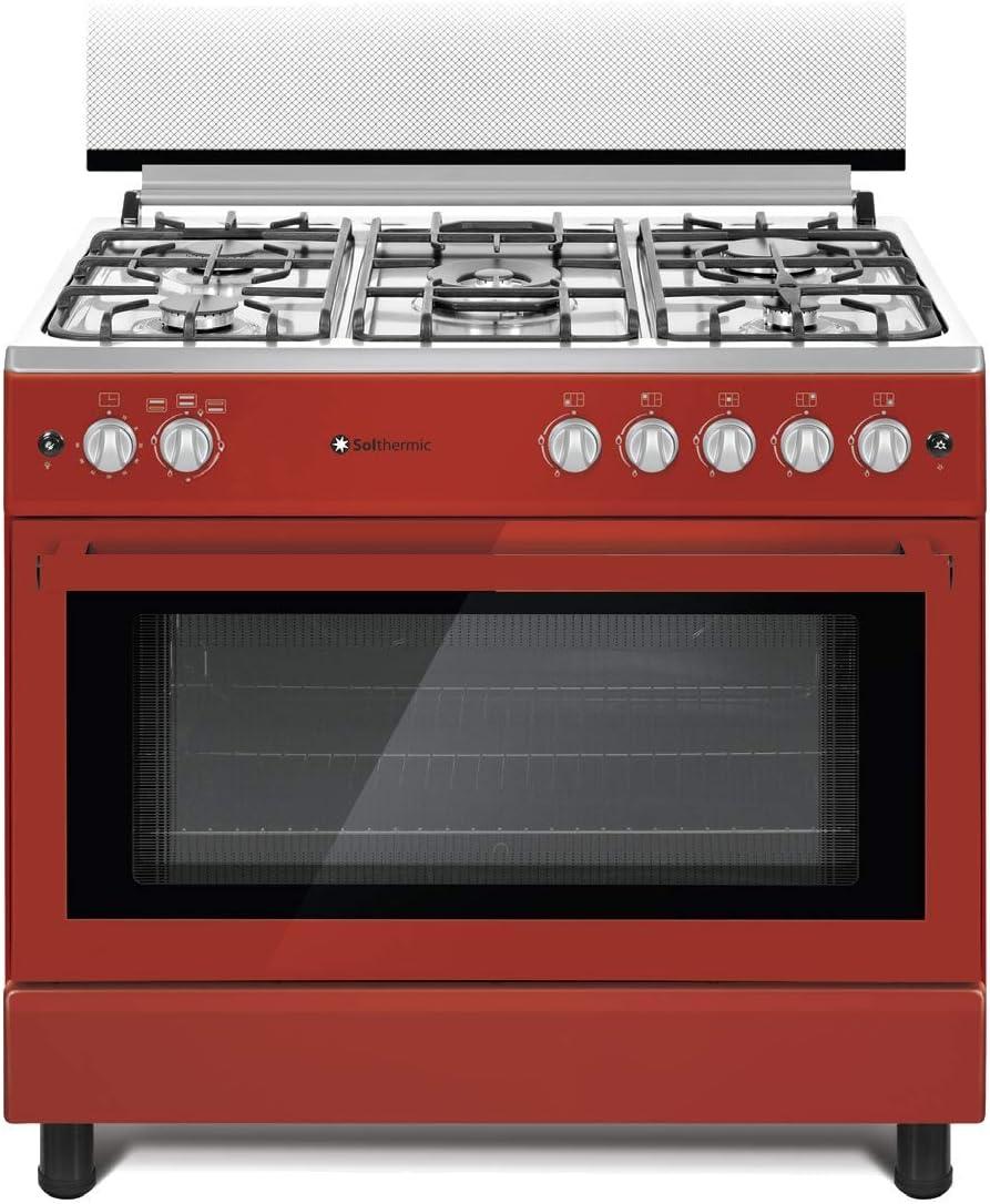 Cocina SolThermic F9L50G2 ROJA PANORAMICA compuesta por 5 ...
