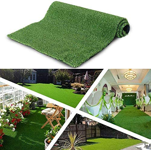 ALTRUISTIC Customized Synthetic Artificial Grass Mat 3ft x 12ft,Indoor Outdoor Garden Lawn Landscape Turf for Pets Faux Grass Rug with Drainage Holes