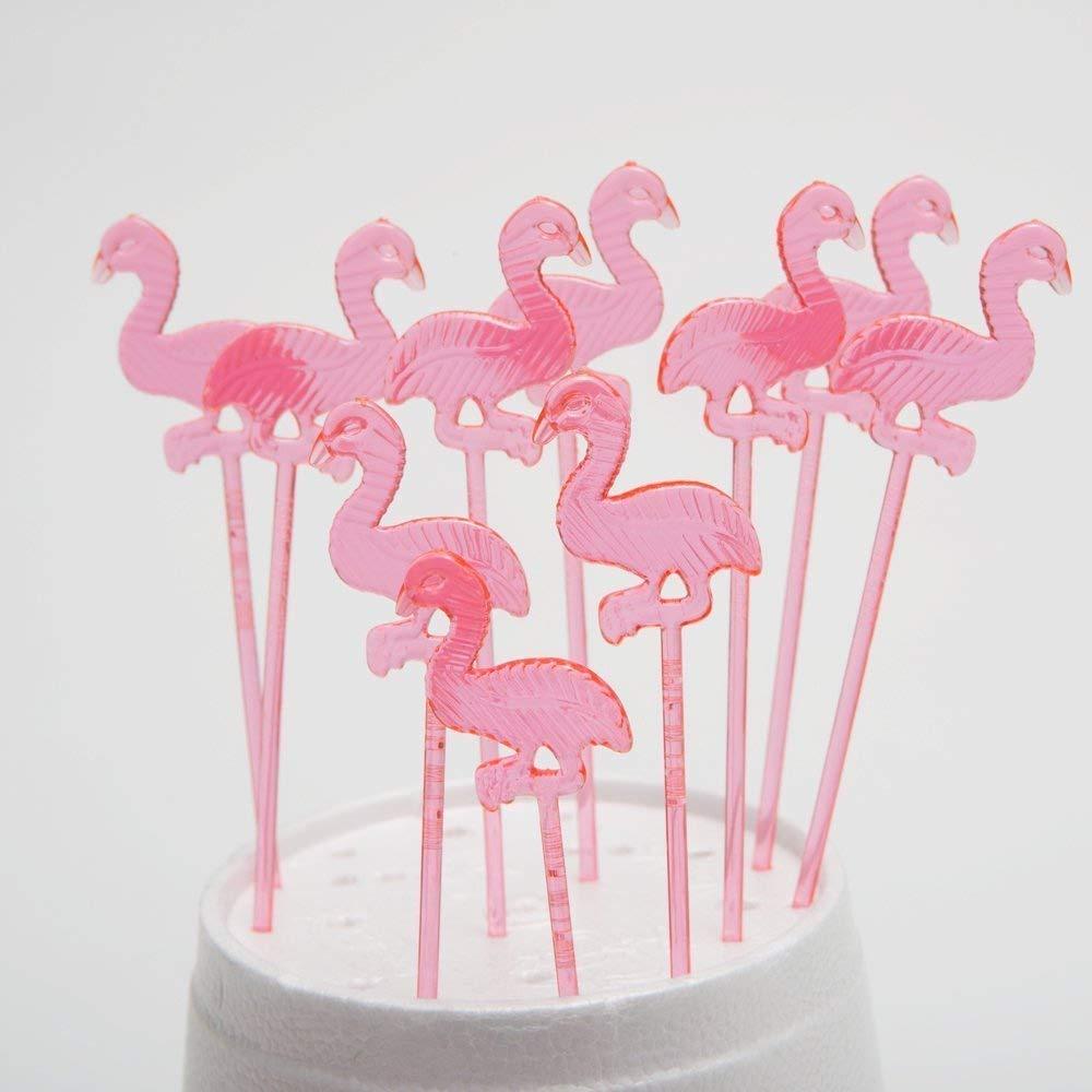 72 Pieces Century Novelty FX IN-34//326 Fun Express Plastic Pink Flamingo Picks