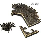Bronze Wooden Jewelry Box Case Display Hinges 67x11mm High Quality for Home Furniture Upholstery Boxes Decoration Fliyeong 10pcs Antique Bronze Cabinet Lid Support Stay Hinge