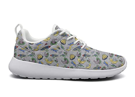 f91208d199a Eoyles gy Dino Alien in Space UFO Dinosaur Space Womens Ladies Slip  Resistant Lightweight Running Shoes