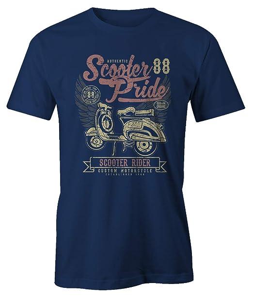 Scooter Pride Rider Motorcycle Vespa Grunge Artwork Cool Vintage Classic T-Shirt Camiseta Hombres: Amazon.es: Ropa y accesorios