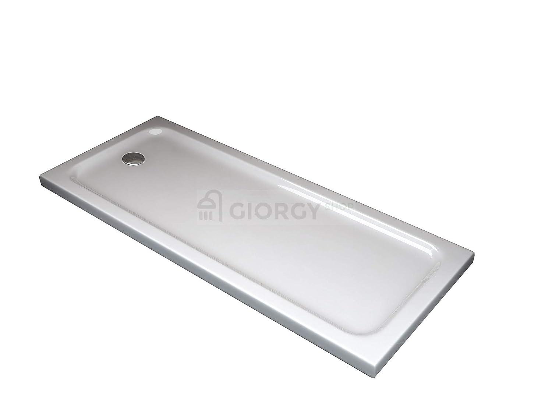 Plato de ducha en ABS, 5 cm de altura, ultradeglado. Cabina de ducha curvada, cuadrada rectangular 70 80 90 100 120 140 160 170 180 5cm de altura GIORGY