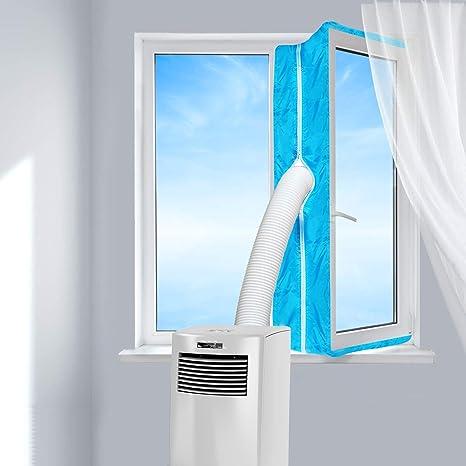 Aozzy AirLock 100 - Aislamiento de Ventanas para aparatos de Aire Acondicionado móviles y secadores de Aire Acondicionado (400 cm), Color Azul: Amazon.es: Hogar