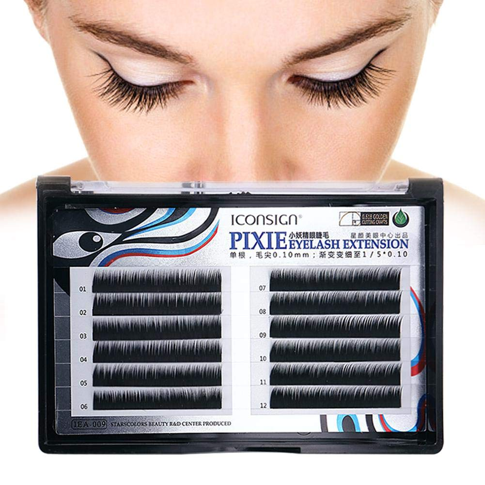 Amazon.com : Biback Eyelash Extension C Curl 0.06mm natural silk protein Individual Lash Extensions Mixed Tray Black Volume Eyelash Extension Supplies Salon ...