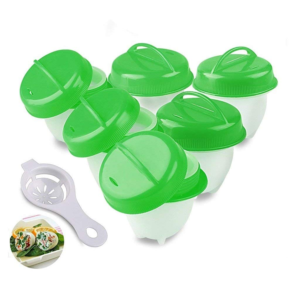 Egg Cooker, Hard Boiled Eggs,Hard & Soft Maker, No Shell, Poacher, Boiled (Green Egg Cooker) CUNXIA