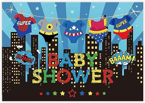 Zhy Cartoon City Shop Backdrop 7X5FT Blue Car Boy Birthday Baby Shower Photography Background Adult Photo Studio Prop LLST129