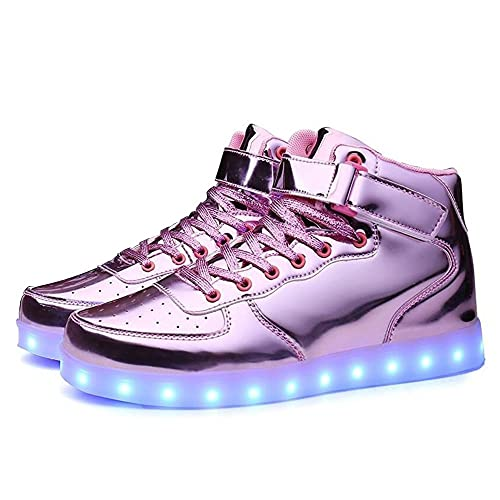 981dde7f87d7 Men women Boy Girl s High Help 11 Color USB Charging LED Shoes Flashing  Sneakers cwmgPK43