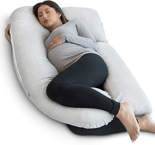 Full Body Pregnancy Pillow U-Shape Cotton Pregnant Women Belly Contoured Pillow