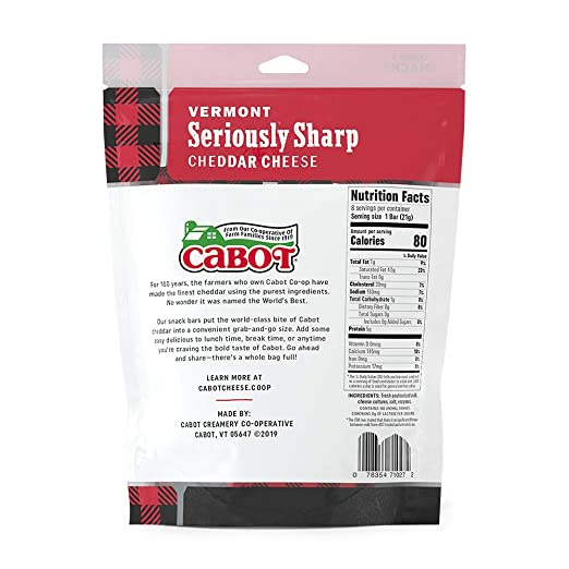 Cabot, Seriously Sharp Cheddar Snack-Size, 6oz