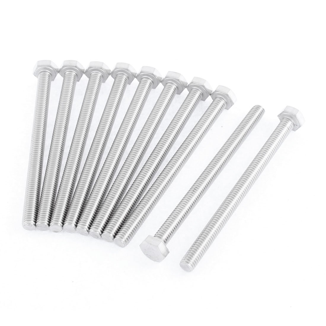 uxcell M6 x 80mm Fully Threaded Stainless Steel Hex Head Screw Bolt 10 Pcs US-SA-AJD-170788