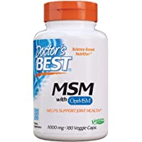 Doctor's Best Best MSM, 1000mg, Veggie Caps, 180ct