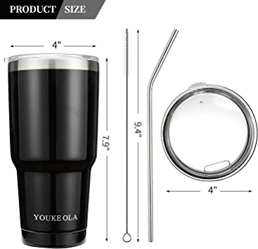 LD/_ EG/_ BU/_ 900ml Stainless Steel Vacuum Insulated Cooler Bottle Tumbler Cup M