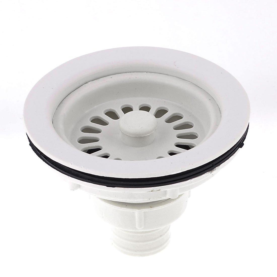 Kunststoff-Wannen-Abfluss-Sieb Sieb Stopper 4,3-Zoll-Durchmesser-Weiß 3-Zoll-Durchmesser-Weiß DealMux