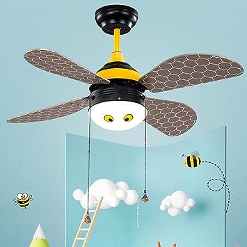 rainierlight Kid Pequeña Abeja Ventilador de techo diseño para ...