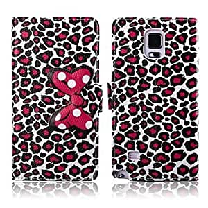 ZL Attractive Leopard Print Pattern PU Leather Full Body Cover for Samsung Galaxy Note 4