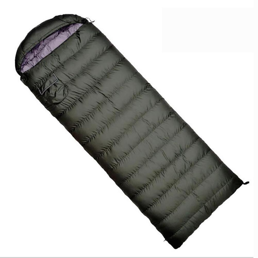 MIAO Saco de dormir - saco de dormir para acampar al aire libre adulto estupendo verde ligero del ejército, sacos de dormir calientes gruesos interiores del ...