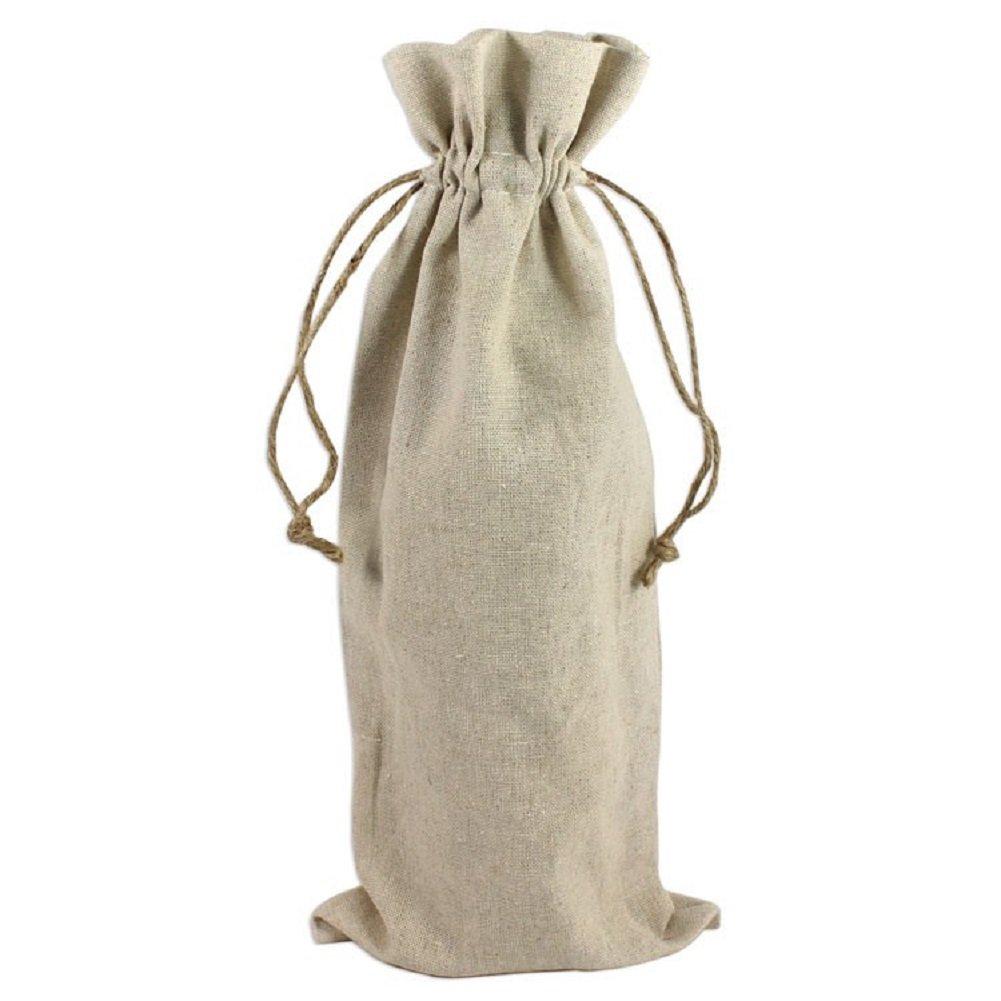 Amazon.com: Yute vino bolsas reutilizables para Burlap lino ...