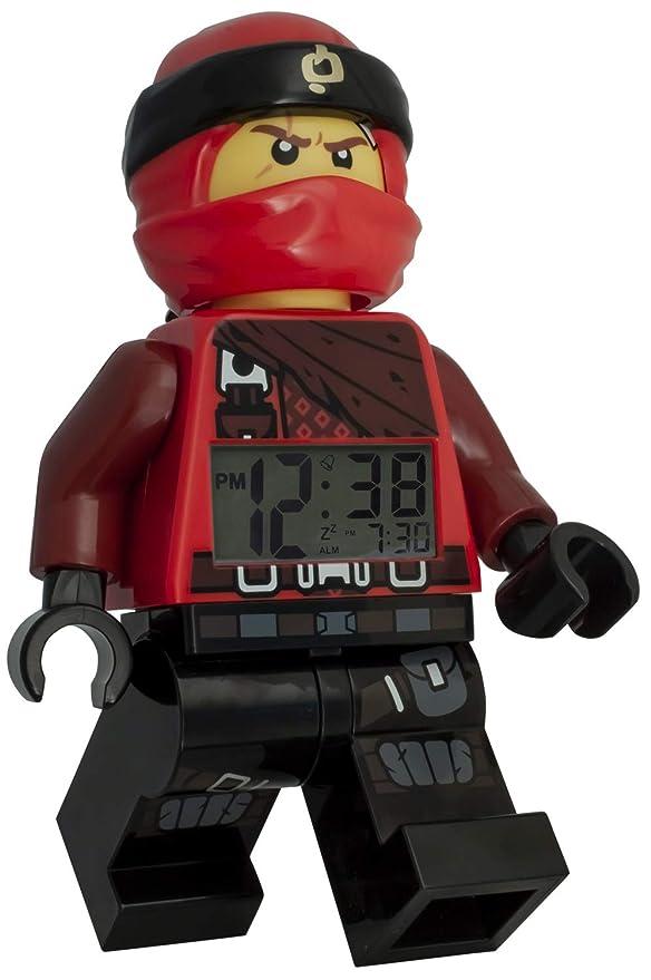 LEGO Reloj Despertador Luminoso Figura Kai Ninjago 9009181 para niños | Rojo/Negro | plástico | 24 cm de Alto | Pantalla LCD | niño/niña | Producto ...