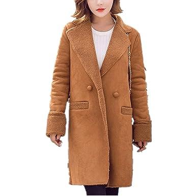 Mantel damen Kolylong® Frauen Elegant Lange Wollmantel Herbst Winter Warm  Jacke Verdickte Parka Outwear Vintage 251a01976b