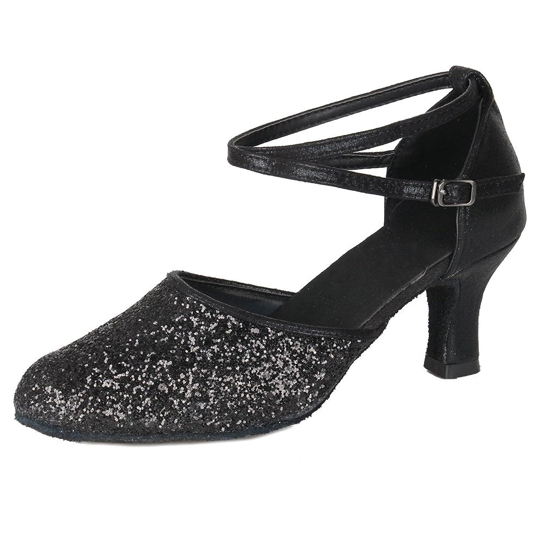 1013234b2fe Caliente de la venta SWDZM Zapatillas de Baile para Mujer Zapatos de  Lentejuelas Tacón