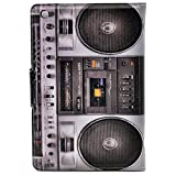 Cool Fun Boom Box Vintage Music Speakers Cassette Player Pattern Leather Flip Slim Book Shell Stand Case Cover For ipad mini 1 2 Retina ipad mini 3