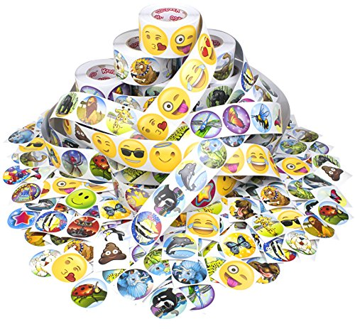 [Kangaroo Mega Sticker Variety Pack - 2500 Stickers!] (Roll Stickers)