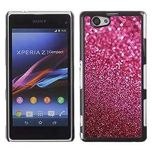 iBinBang / Funda Carcasa Cover Skin Case - Glitter rosa púrpura de Bling Sand reflectante - Sony Xperia Z1 Compact D5503