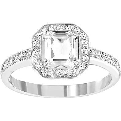 Amazon.com  Swarovski Attract Light Square Ring  Jewelry 17ab902b81