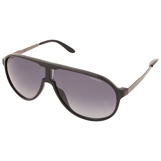 Carrera NEW Champion HD LB0, Gafas de Sol Unisex-Adulto, Negro (Shiny Black Semimattedark Ruth/Grey Shaded), 62