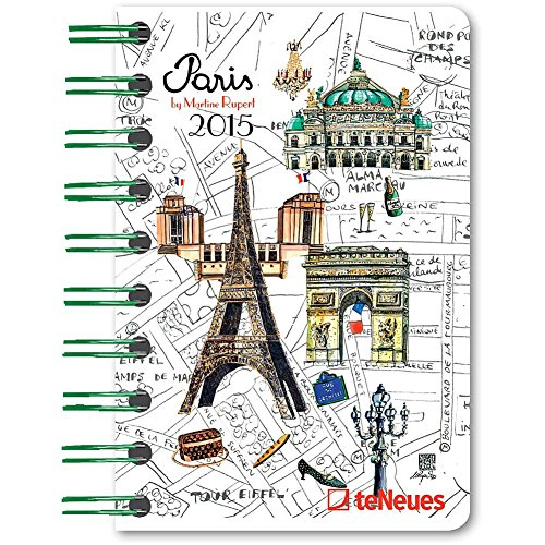 Paris Martine Rupert 2015 Weekly Pocket Planner Engagement Calendar