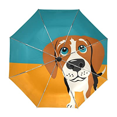 My Daily Beagle Dog Travel Umbrella Auto Open Close UV Protection Windproof Lightweight Umbrella