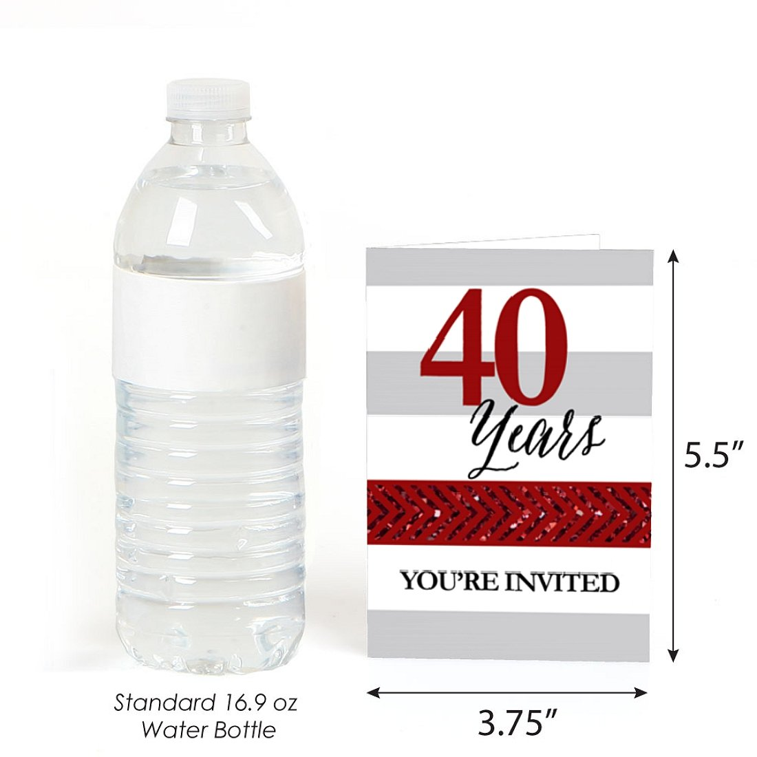 Fill in Anniversary Party Invitations 40th Wedding Anniversary 8 Count Big Dot of Happiness We Still Do