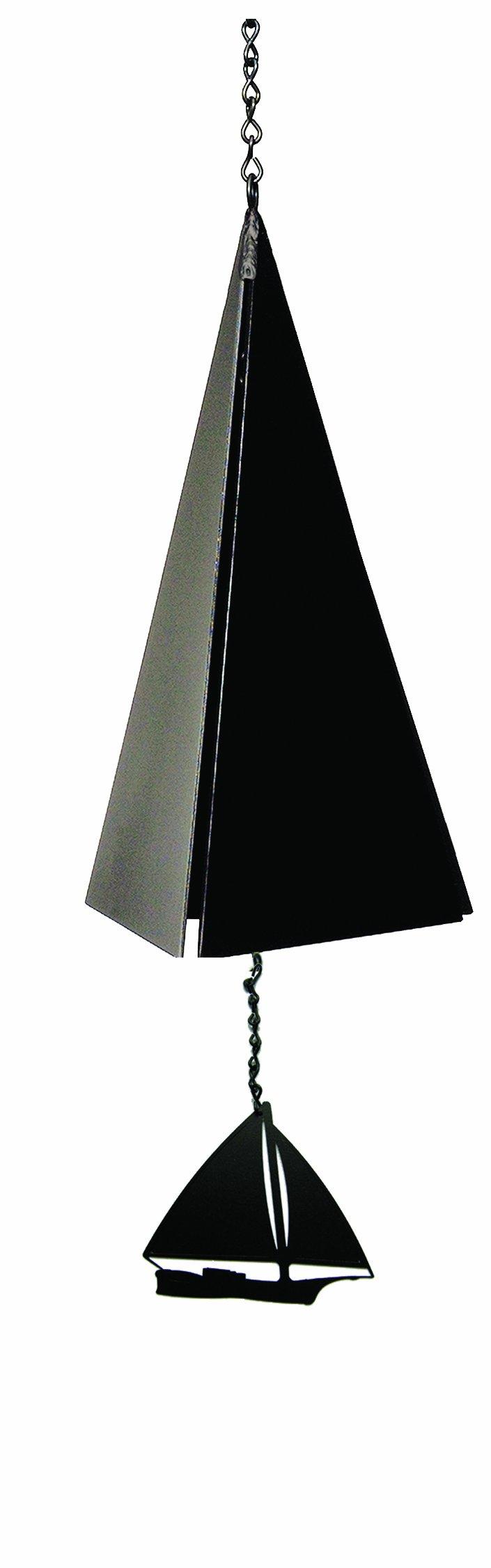 North Country Wind Bells Nantucket Bell Windcatcher with Black Skip Jack