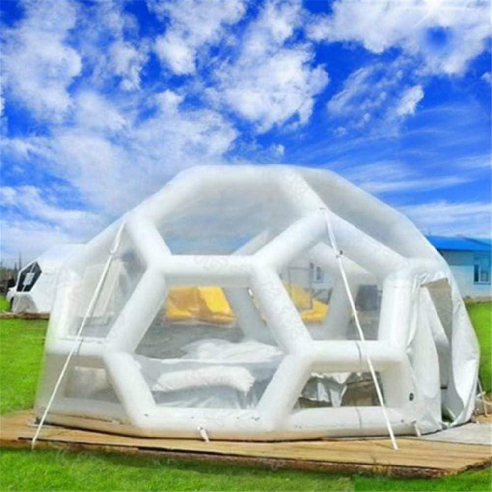屋外の透明なテント、単層閉鎖透明サッカーテント屋外球状インフレータブル高級インフレータブルバブルテント家族キャンプ裏庭,3MDiameter  3MDiameter