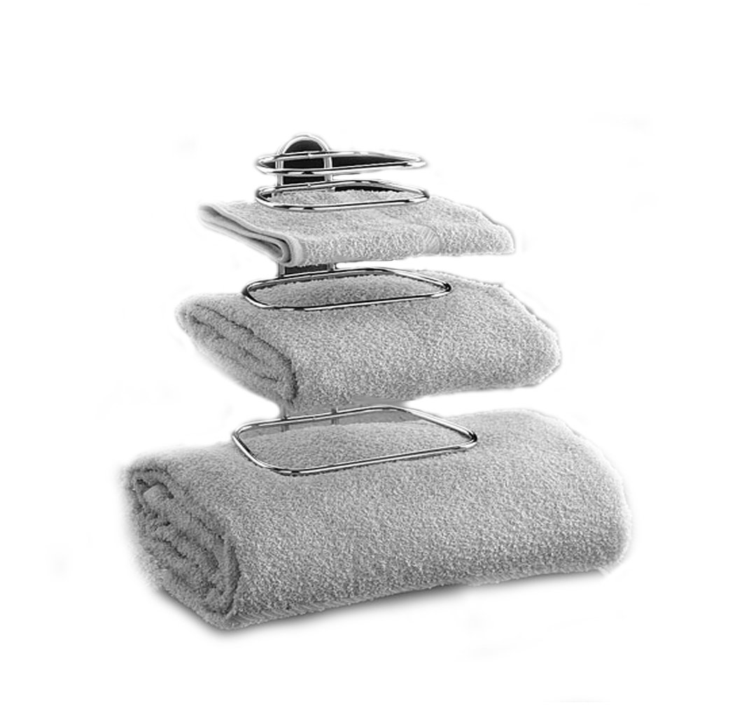 Taymor Hotel Two Guest Towel Holders, Chrome 01-1062