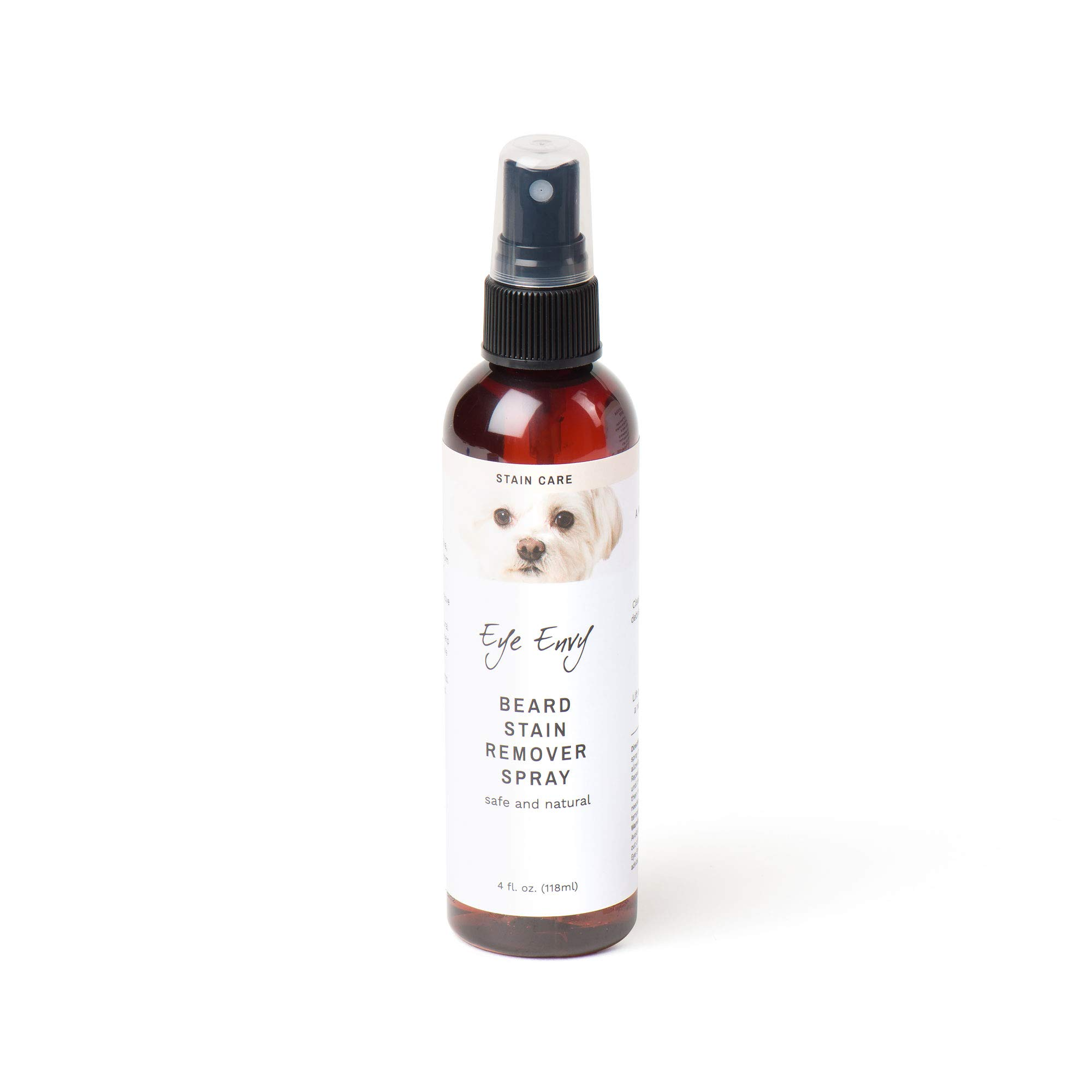 Eye Envy Beard Stain Remover Spray for Dogs/Cats 100% Natural and Safe Lift Stains from Drooling, Saliva, Food, Runoff from Tearing Treats The Cause of staining Removes Odors Keeps Beard Clean