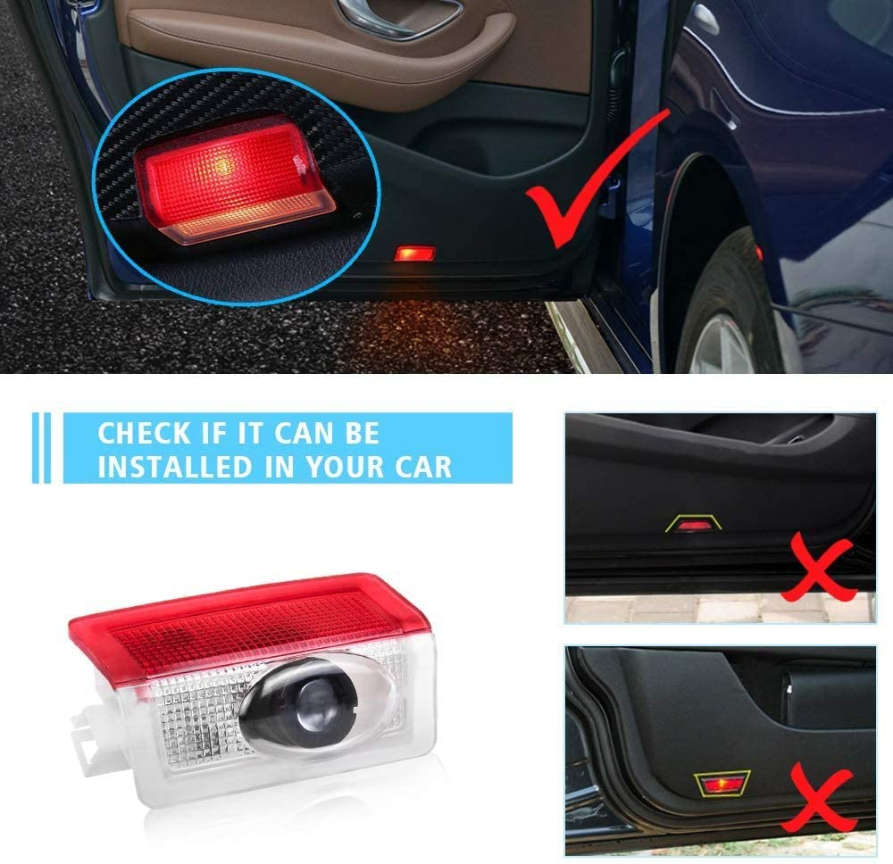 Non-fading HD Lens Highly Bright Welcome Courtesy Lamp for A//B//E//W176//W246//W212 Car Accessories Door Logo Lights for Mercedes Benz Projector 3D Ghost Shadow Puddle Lights